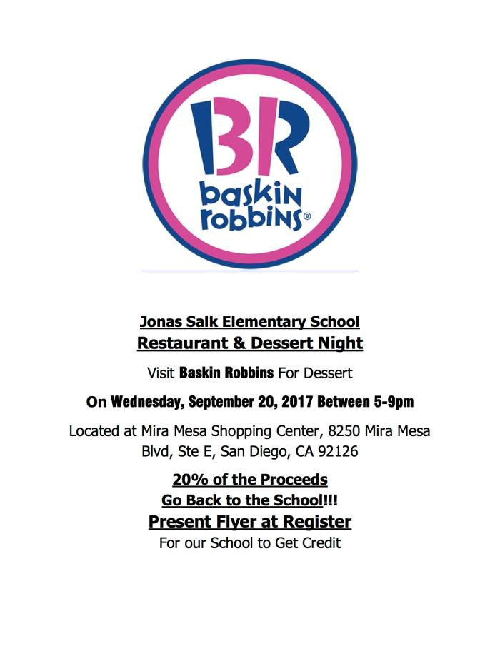 2017.09.20 - Restaurant Night Baskin Robbins