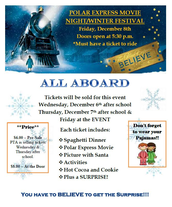 2017.12.08 - polar express movie night flyer - UPDATED