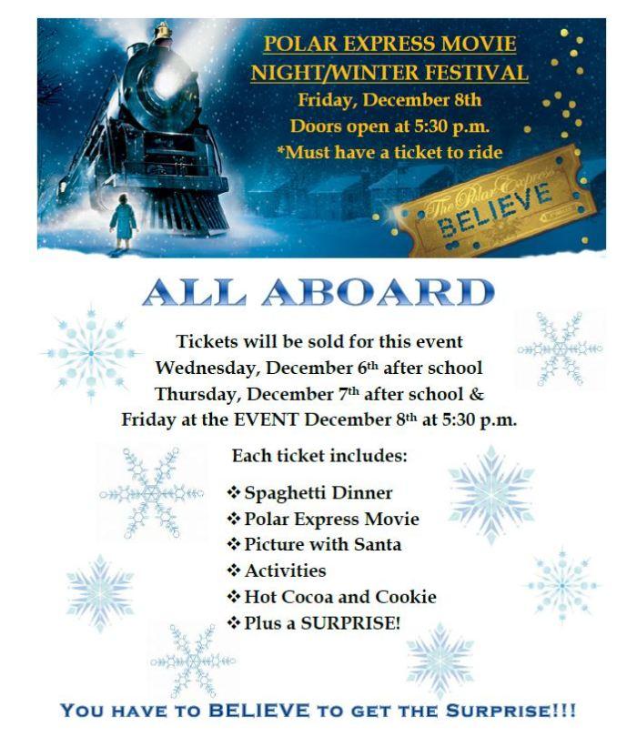 2017.12.08 - polar express movie night flyer1B
